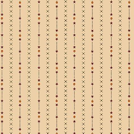9143-44 Cream Harvest Stripe