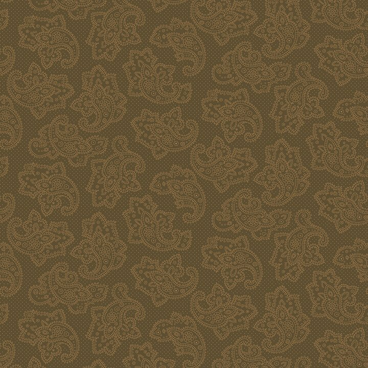 Brown Dotted Paisley