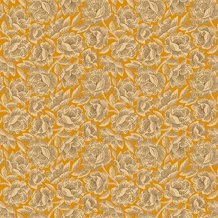 Orange Vintage Floral