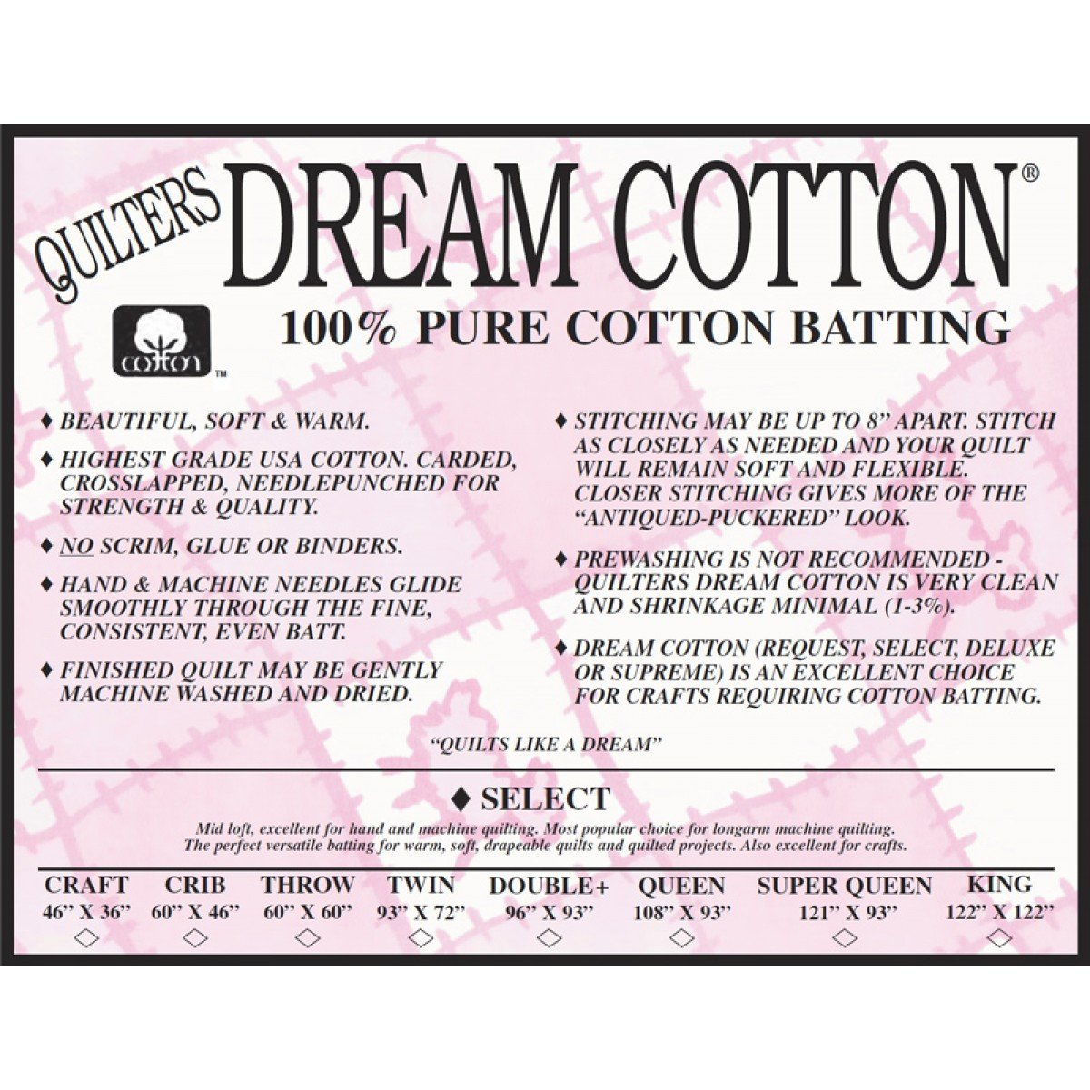 Dream Cotton Select Natural Throw 60 x 60