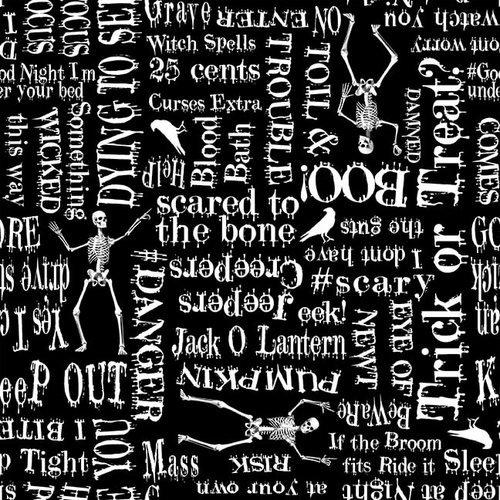 Ghoulish Gathering Halloween Words