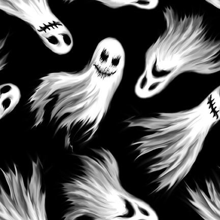 Ghoulish Gathering Black Ghosts