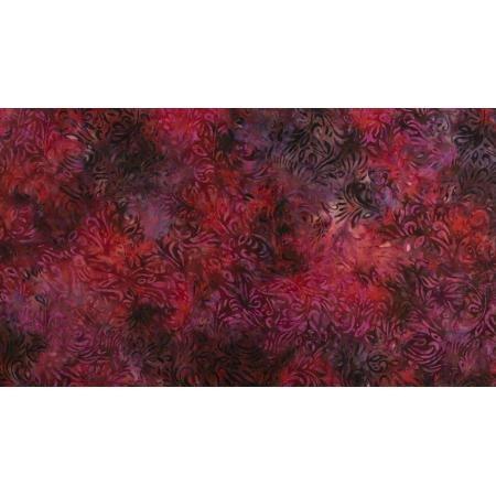 JB302-RU1B Malam Batiks VII - Swirl - Ruby