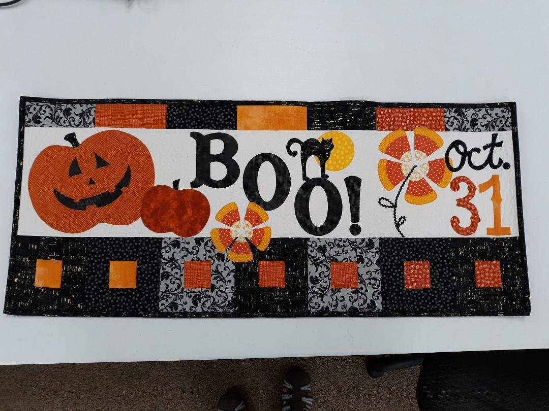 October Halloween Boo - Bench Pillow Fabric kit