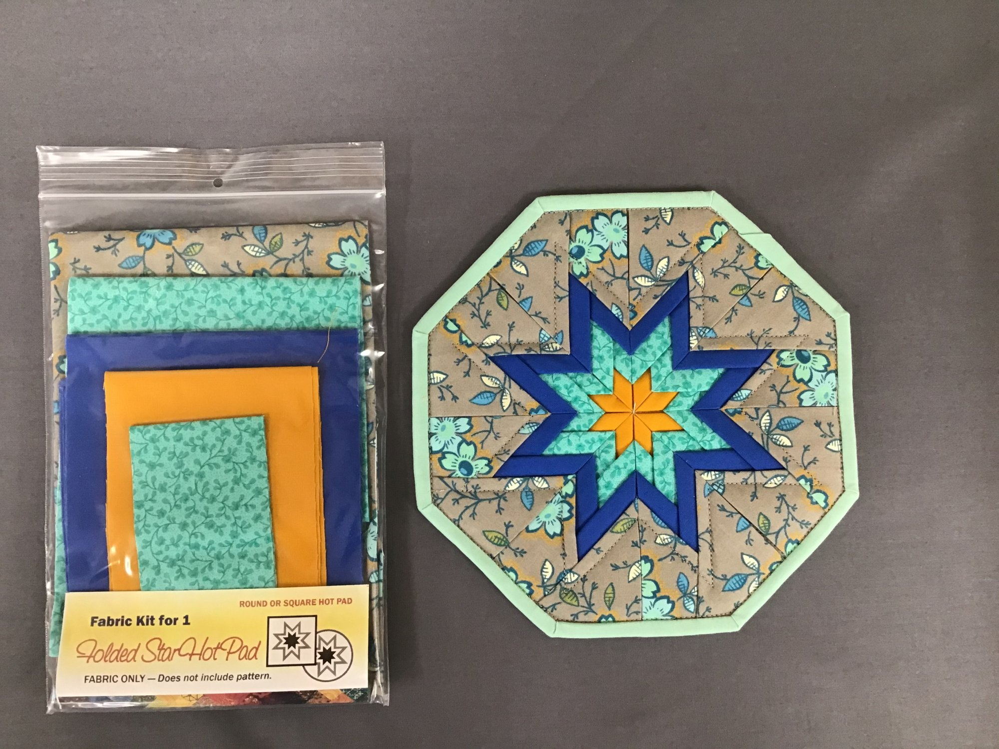 Folded Star Hot Pad kits - Square or Octagon