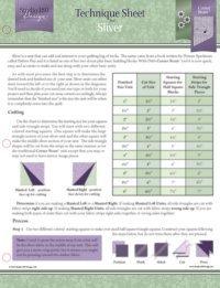 sliver technique sheet