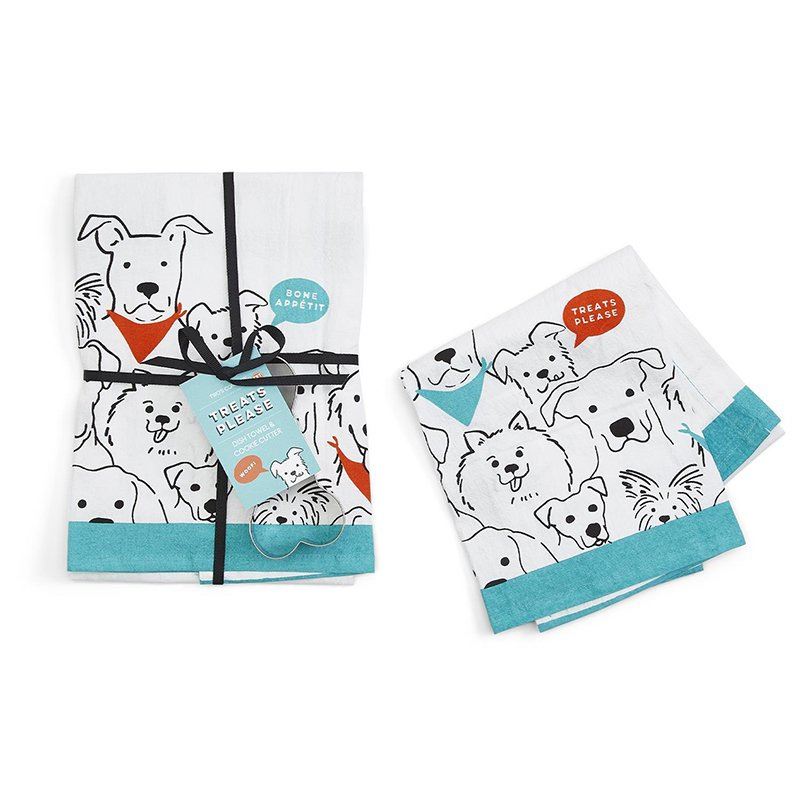 Dish Towel Treats Please & Biscuit Cuter