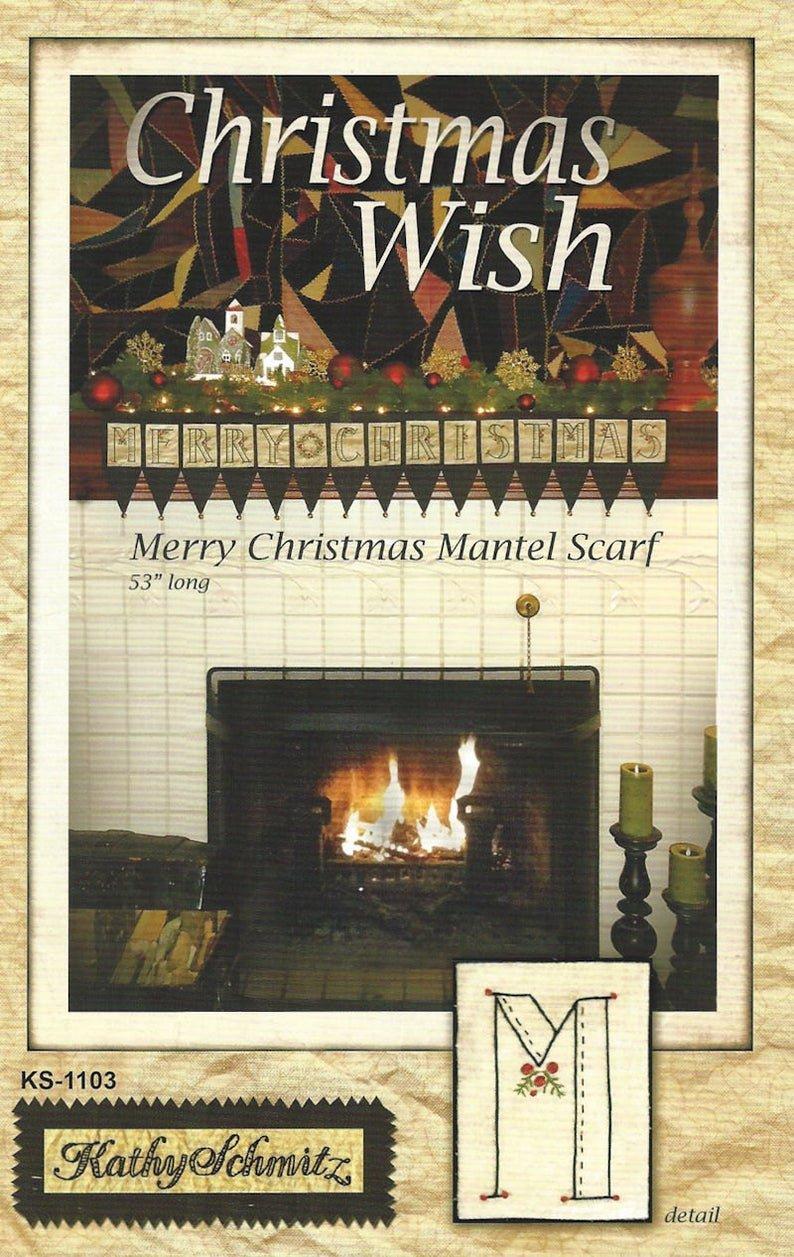 (P50) Christmas Wish Mantel Scarf