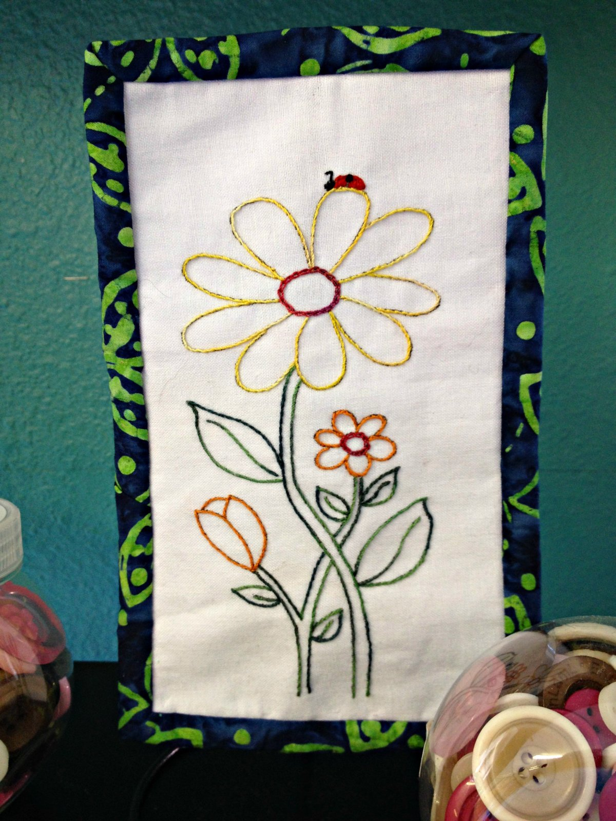 Daisy Bug Skinny Fabric Kit