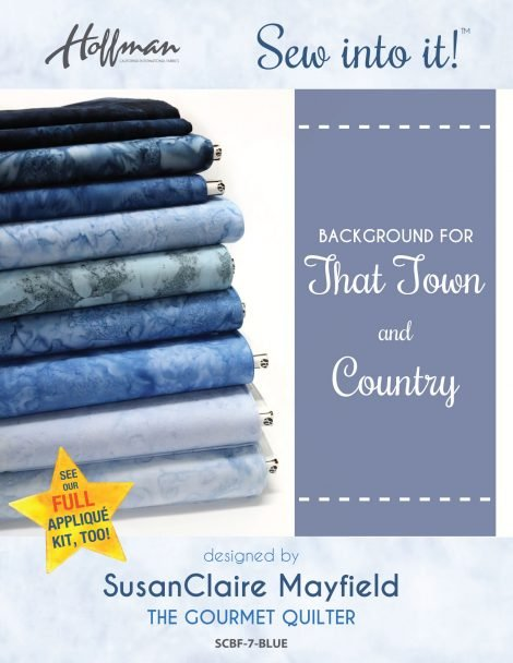 That Town and Country Background Fabric Kit