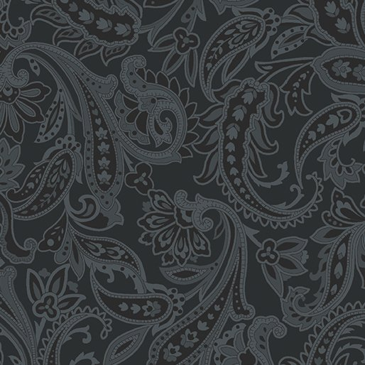 Jackies Paisley Black 619-99