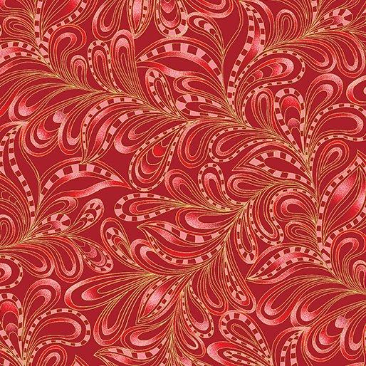 Featherly Paisley Rouge 7555M-20
