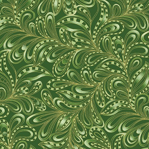 Featherly Paisley Forest 7555M-43