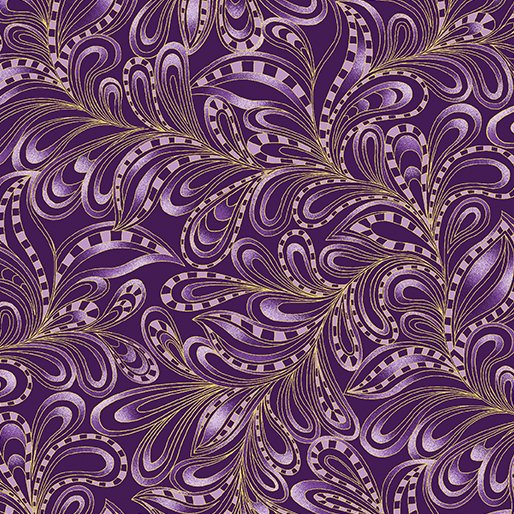 Featherly Paisley Plum 7555M-67