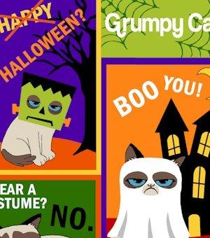 Grumpy Cat Halloween 9869-0136
