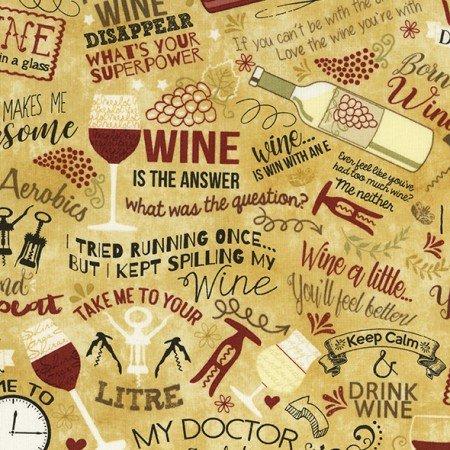 Wine Words C5595-Tan