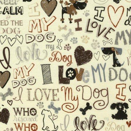 I Love my Dog 5710- Cream