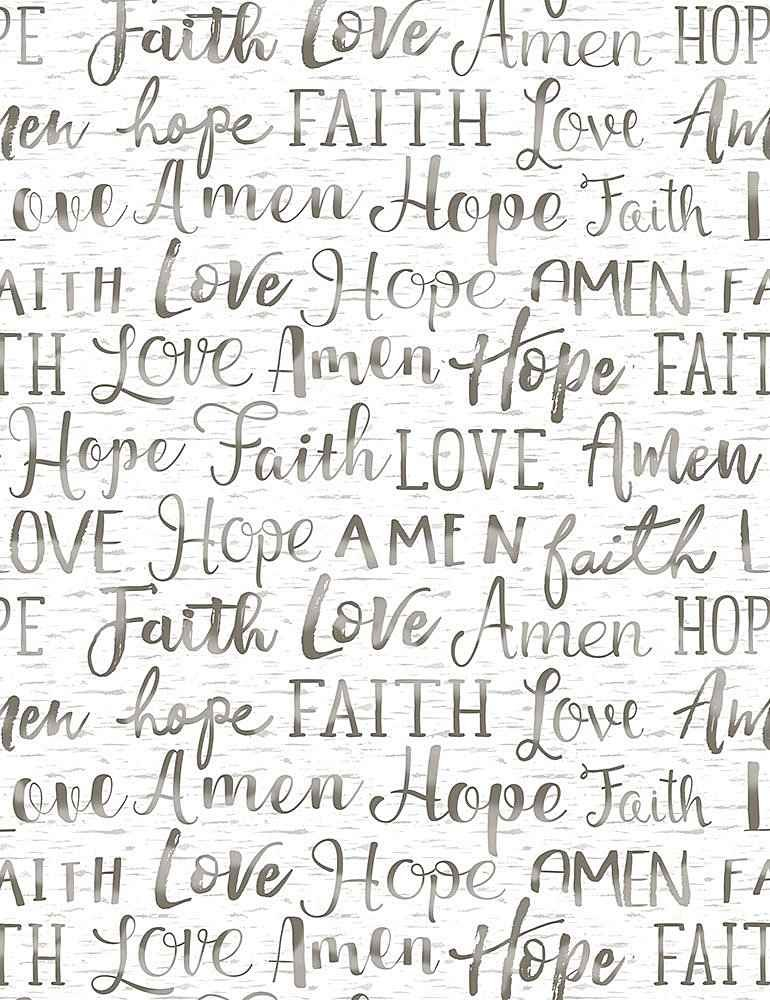 Hope Faith Love Amen C7858-White
