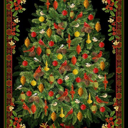 Christmas Tree Panel 5960-Multi