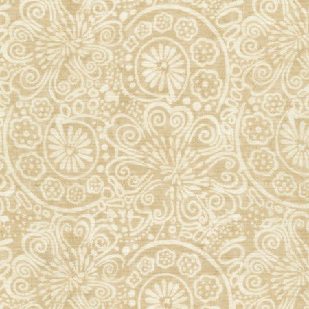 Flower Scrolls C6909-Cream