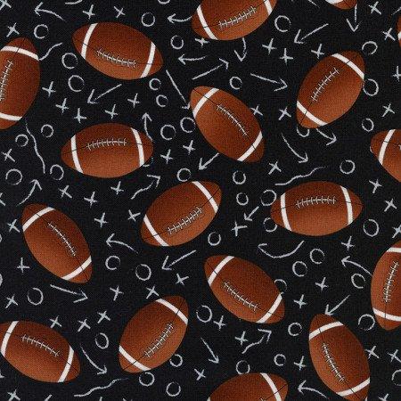 Tossed Footballs 1228- Black