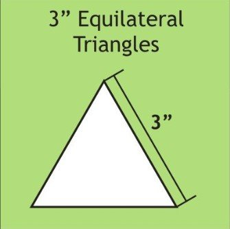 3in Equilateral Triangle Template