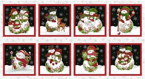 All That Glitters is Snow Snowmen Panel