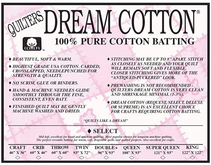 Quilters Dream - White - Twin size