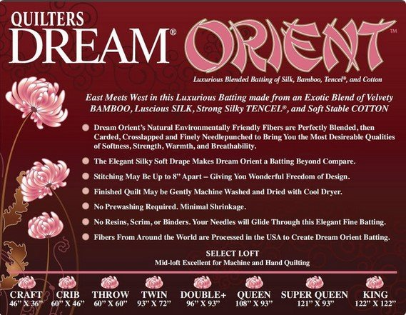 Quilters Dream Orient Super Queen 121 x 93