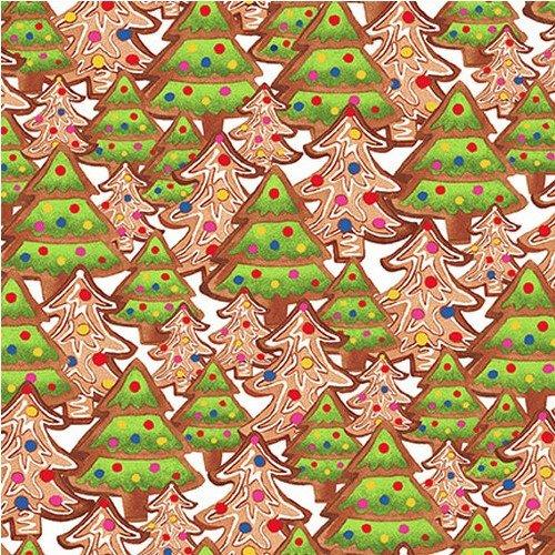 Gingerbread Factory Christmas Tree Cookies