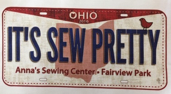 It's Sew Pretty Anna's Sewing Ctr. Fabric Plates