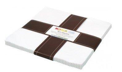 White KONA Cotton Solids