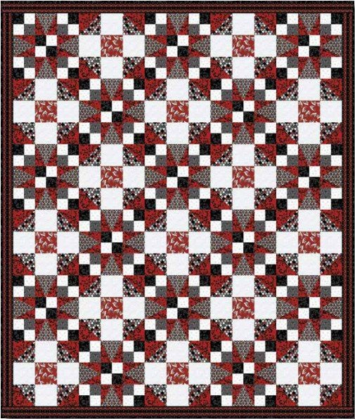 Moroccan Red Quilt Kit