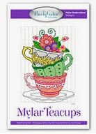 Purely Gates Mylar Teacups Embroidery