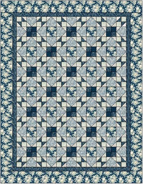 Sapphire Blossoms Quilt Kit