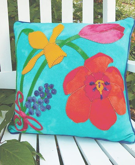 Think  Spring Bouquet - WOOL Pillow