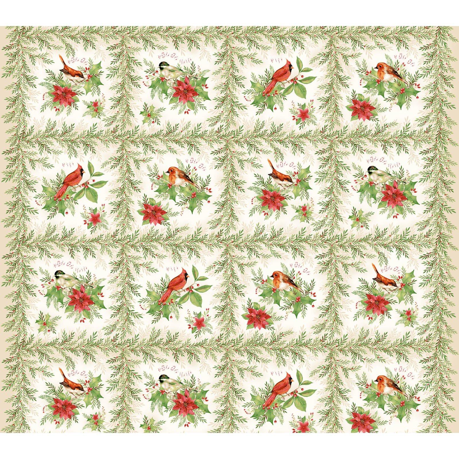 Songbird Christmas panel