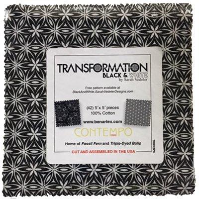 Transformation B & W Charm Pack