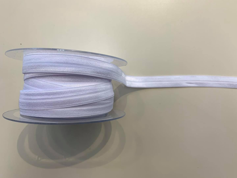 White Fold Over elastic