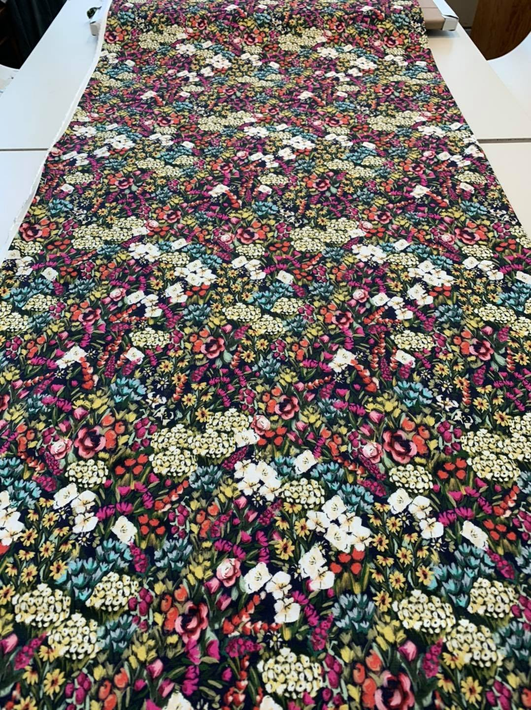 Flower Field Stretch Cotton
