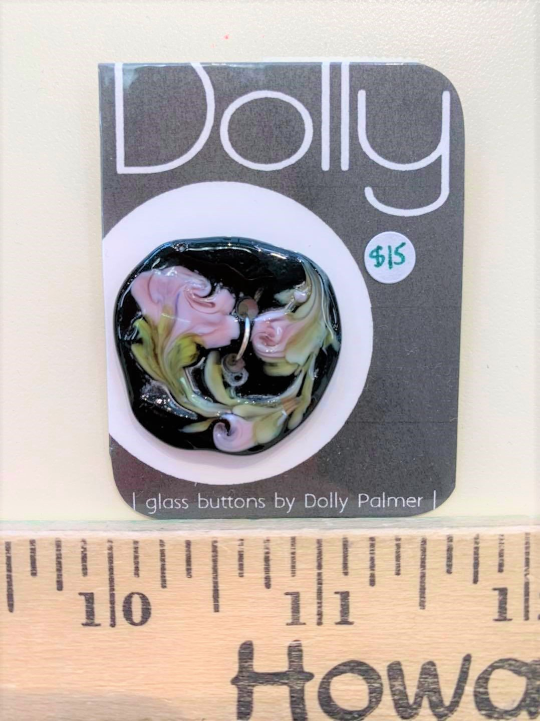 Roses Glass Button