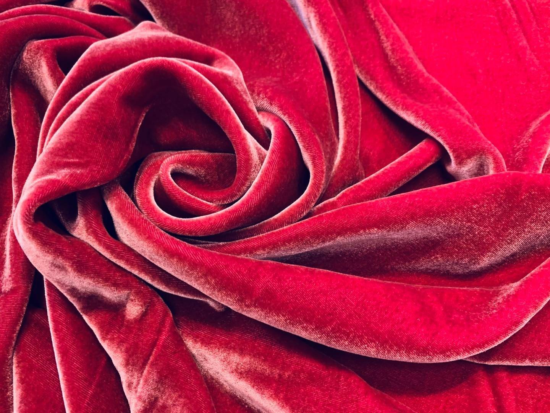 Victorian Rose Silk Velvet