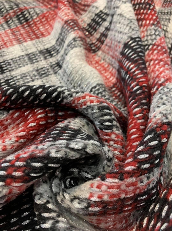 Jumbo Festive Wool Plaid Knit