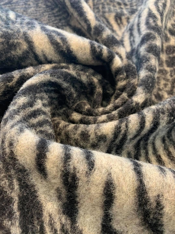 Animal Melange Boiled Wool