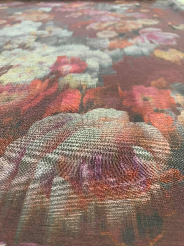 Rose Rush Printed Ponte Knit