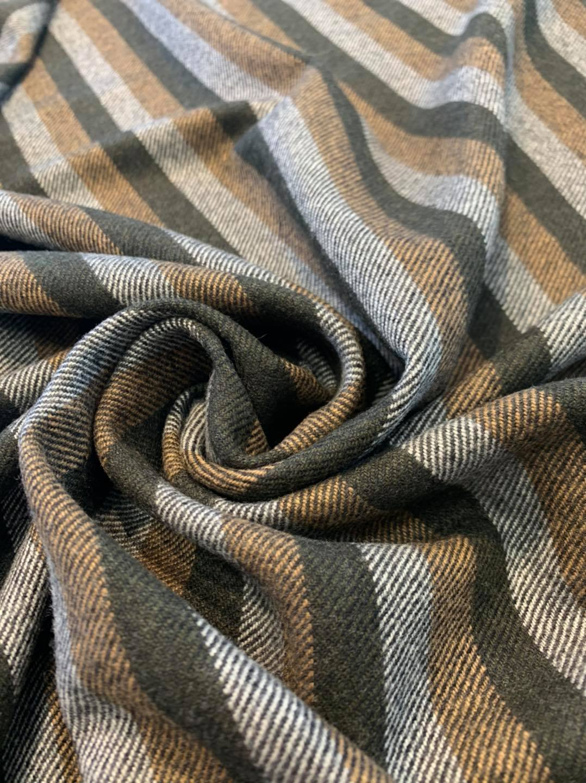Striped Twill Cashmere
