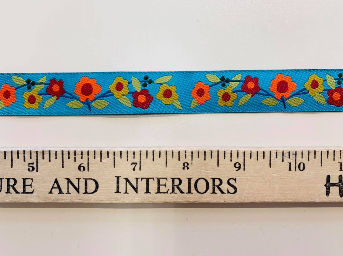 Floral Ribbon in Turquoise