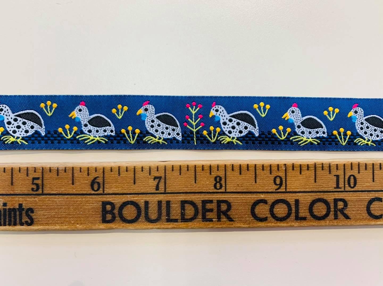 Blue Guinea Fowl Ribbon