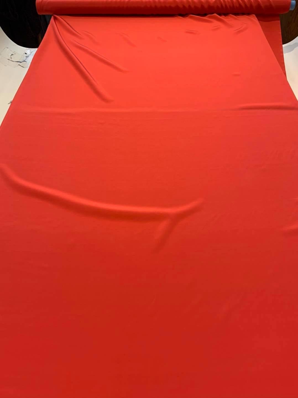 Orange Silk Crepe de Chine