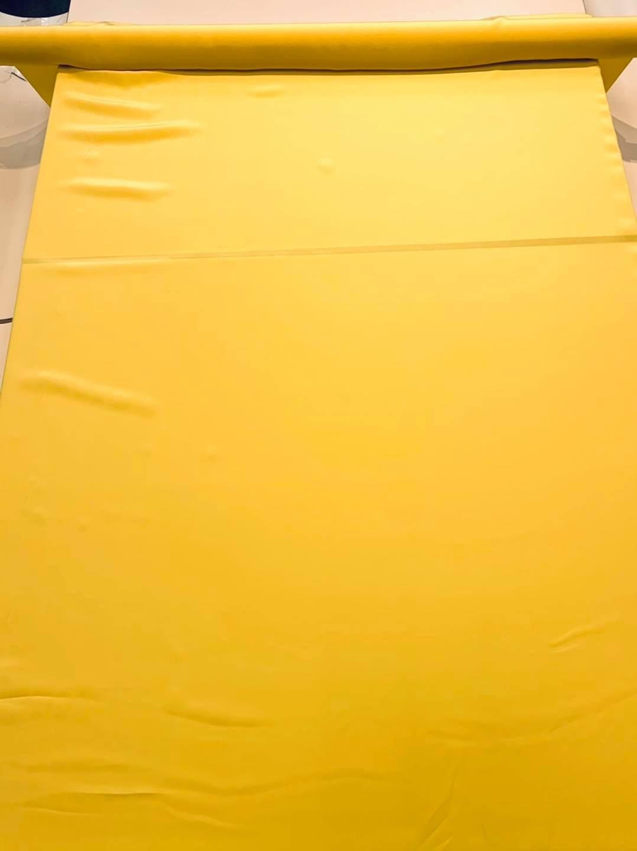 Illuminating Yellow Silk Crepe de Chine